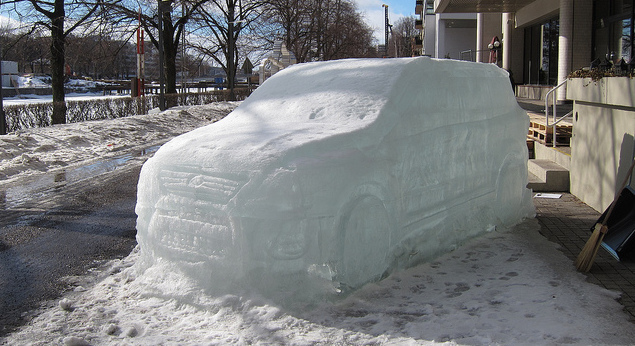 Car made of ice
